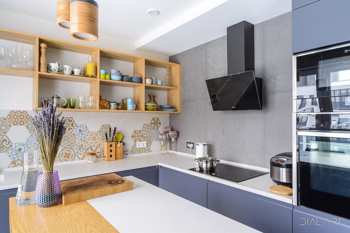 Кухни с интегрированными ручками